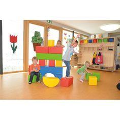 Eduplay, Soft Bausteine Bauen, spielen und Geschicklichkeit fördern,14 weiche-Bausteine | 110238 / EAN:4260372711508