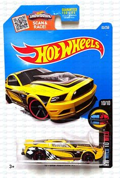 Hot Wheels HW Mild to Wild '13 Ford Mustang GT #10 Yellow Black 65/250 New 2016 #HotWheels #Ford