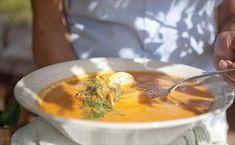 krämiga fisksoppa Fisksoppa med grönsaker, aïoli och parmesan