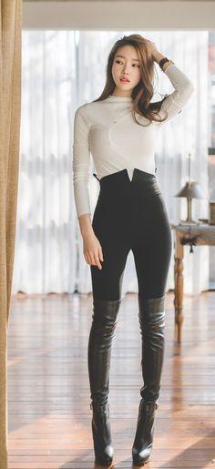 Image result for girl legging outfits korean