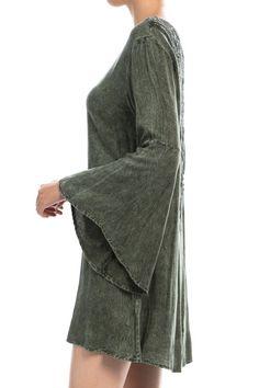 Sophia Lace-back Kimono Sleeve Dress - Sassy Posh - 4