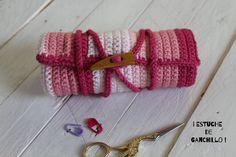 Estuche para tus Agujas de Ganchillo I  Crochet case I ENGLISH SUB! cuca...