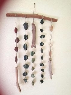 Wooden House Decoration, Driftwood, Wind Chimes, Recycling, Outdoor Decor, Diy, Crafts, Vintage, Ideas