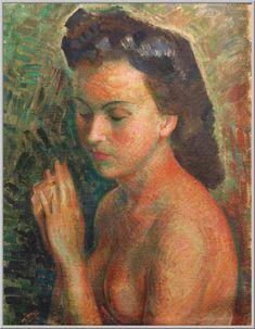 Mario Tozzi 1948: La Fidanzata. Olio su Tela cm.72,5x52,5 - Collezione Privata Roma - Archivio numero 989 - Catalogo Generale Dipinti numero 48/3.