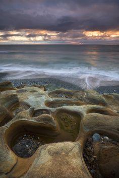 The Sandstone Coast in West Coast of New Zealand