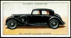Cigarette Card - SS Jaguar 2 1/2litre Saloon, 1936