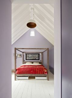 attic bedroom — Joshua & Rachel's Notting Hill Home | Apartment Therapy