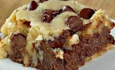 Ingredients: 2 cups Gold medal UNBLEACHED all-purpose flour (bleached flour toughens baked goods) 1 ½ cups brown sugar, packe ½ cup white sugar 2 sticks (1 cup) unsalted butter, softened 2 large eggs ¼ tsp. salt 2 tsp. vanilla ½ cup banana, mashed with a fork (about one medium-large banana) 10-oz. Hershey's semi-sweet chocolate baking …