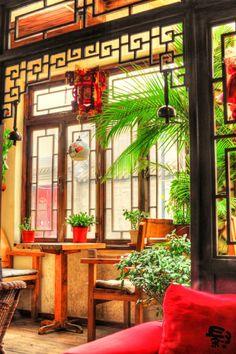 Papier peint 3d asiatique paysage zen jardin for Meubles peints japonais