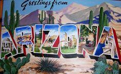Arizona Vintage Postcard.  #Route66, #Arizona, #route66