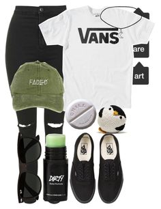 """""""Untitled #254"""" by walk-the-plank ❤ liked on Polyvore featuring Topshop, Vans, Ray-Ban, baseballcap and baseballhats"""