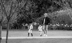 April 2 1988 Diana, William and Harry at Windsor Castle on Easter holiday