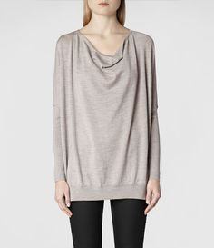 Womens Rheia Sweater (Cement) | ALLSAINTS.com