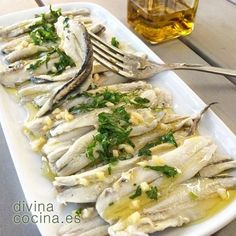 You searched for boquerones en vinagre - Divina Cocina Fish Recipes, Great Recipes, Best Spanish Food, Spanish Dishes, Cooking Pumpkin, Cooking Recipes, Healthy Recipes, Mediterranean Recipes, My Favorite Food