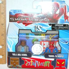 Minimates Exclusive 56 2-Pack Flashback Spider-Man & Max Dillon in Toys. Marvel Minimates 56 The Amazing Spider-Man 2 Spider-Man & Green Goblin 2. Minimates Marvel The Amazing Spider-Man 2 Flashback Spidey. a max Dillion minimate,  who. #hero #kids #SpiderMan #toys #Marvel #figurines #Collectibles #gifts