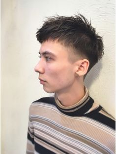At Love (at & # LAV by Belle) Fashionable Berry Short Hairstyle for Men Quiff Hairstyles, Asian Men Hairstyle, Cut My Hair, New Hair, Men's Hair, Kpop Hair, Hair Setting, Haircuts For Men, Hair Inspo