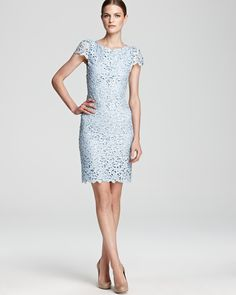 A FEW THINGS TO AVOID: This dress is fitted and taylored throughout, unlike the Tadashi Shoji Dress nearby (Pinterest sometimes shuffles) that is loose/billowy in the top/chest area. At least one element should be flowy/bellowy to keep with the look