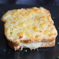 Croque Monsieur is the French version of a toasted ham and cheese sandwich And like many things the French do it better Tastes Better From Scratch Soup And Sandwich, Sandwich Recipes, Sandwiches, New Recipes, Cooking Recipes, Favorite Recipes, Dinner Recipes, Brunch, Grilled Cheese Recipes