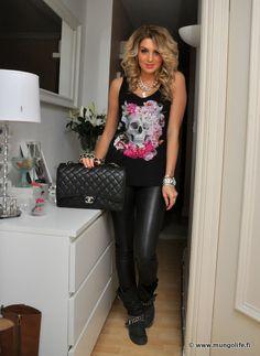 Laukku / bag, Chanel Housut / pants, H second hand Toppi / top, H Bootsit / boots, Australia