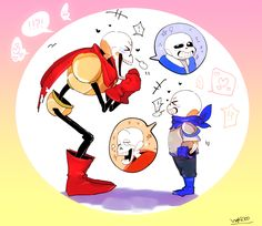 Classic Papyrus and Swap!Sans talking about their bros!