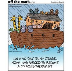 Off the Mark. Religious and therapy humor Funny Cartoons, Funny Comics, Funny Jokes, Hilarious, Christian Cartoons, Christian Jokes, Psychology Jokes, Religious Humor, Jewish Humor