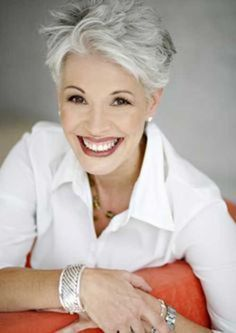 Looking for cool and modern pixie hairstyles for older women? In our gallery you will find images of Cool Pixie Haircut for Older Ladies that you will adore Short Grey Hair, Short Hair Cuts For Women, Short Silver Hair, Short Wavy, New Hair, Your Hair, Going Gray, Great Hair, White Hair