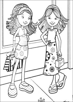 Groovy Girls Like To Play Skateboard Coloring Pages Groovy Girls