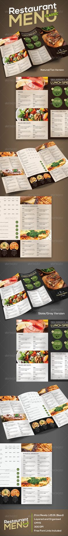 Restaurant Menu (Classic) Template #design #speisekarte Download: http://graphicriver.net/item/restaurant-menu-classic/7503885?ref=ksioks