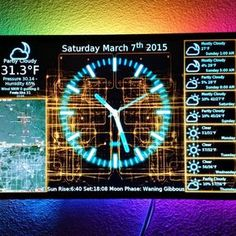 Inspirational Little Raspberry Pi project that us a clock and weather display