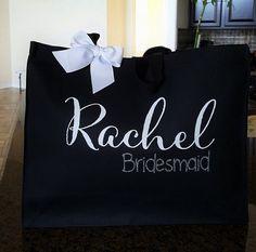Bridal Tote Bride Bag Bridesmaid Tote Bridesmaid by krismattshop