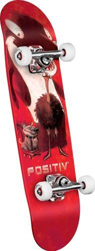 POSITIV Team Animal King Mini Complete Skateboard (Red, 7.5-Inch) by POSITIV. $59.02. Amazon.com                       POSITIVE Team Monster Series Complete Skateboard  Hop aboard this Animal Series Team Skateboard from POSITIV and tear it up at the skate park and on the street. The Animal King Complete comes ready to ride with soft 54-millimeter, POSITIV Super High Rebound treaded wheels, 7.625-inch POSITIV trucks, and Mini Logo bearings. The mini-sized 28.65 by 7.5-inch deck f...