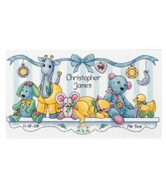 Dimensions Birth Record Counted Cross Stitch Baby's Friends                                                                                                                                                                                 Plus