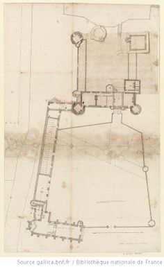 [Maintenon, château] Autre plan dudit château, sçavoir rez-de-chaussée, premier et second étage : [dessin] - 1