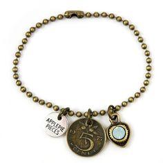 new! Lucky stuiver armband moon opal