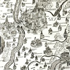 "English artist Grayson Perry's 2004 Map of an Englishman portrays his mind in a mock-Tudor etch of an imaginary island, surrounded by the ""seas"" of his perceived psychological flaws — desires, vanities, prejudices, fears. The island itself is vaguely brain-shaped, turning the map into a kind of cartographic phrenology of the self."
