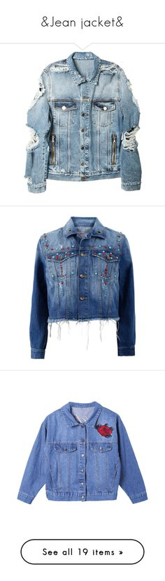 """""""&Jean jacket&"""" by alibasicamina ❤ liked on Polyvore featuring men's fashion, men's clothing, men's outerwear, men's jackets, mens distressed leather jacket, balmain mens jacket, mens zip jacket, mens cotton jacket, mens zipper jacket and outerwear"""