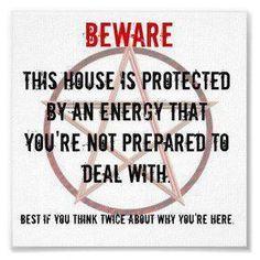 Beware Sign for Pagans -  ha!