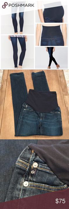 AG Jeans Secret Fit Belly Legging Maternity Jeans In good preloved condition some slight wear on the cuffs but no tears or holes. I rolled them up when I wore because they were longer for me. AG Adriano Goldschmied Jeans Skinny