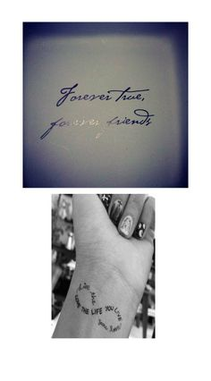 Possible Idea ... Use quote on top, inifinity symbol below.  Jessica?