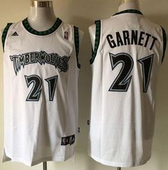 70f482063 Buy Timberwolves 21 Garnett White New Revolution 30 Signature Edition  Jerseys from Reliable Timberwolves 21 Garnett White New Revolution 30  Signature ...
