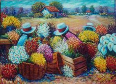 Arte peruano  -  Typical paintings from Peru.  ~lbk~