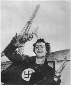 Sid Vicious, he was not a neonazi, he used to wear nazi symbols to show his freedom of speech, punks and nazis dont get along well, at least not in spain