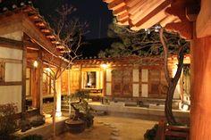 Beautiful Inner Courtyard of a Hanok (RakKoJae hanok in Bukchon Hanok Village, Seoul)