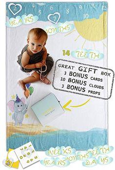 Baby Milestone Blanket for GirlsBaby Shower GiftSuper soft photo blanket