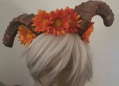 Horns Horn headband Flower crown Floral crown by msformaldehyde