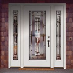 Feather River Doors 63.5 in. x 81.625 in. Preston Patina Full Lite Unfinished Smooth Fiberglass Prehung Front Door with Sidelites-643101-3A4 - The Home Depot