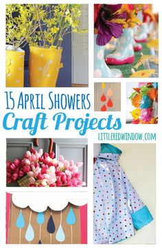 15 April Showers Craft Projects | littleredwindow.com some great craft projects inspired by April showers, umbrellas, rain, and rainboots to cheer me up! And boy is there some cute stuff out there! These 15 projects from some amazing bloggers are my favorites of the bunch and they definitely make rainy days seem a lot more pleasant!