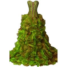 ORIENT BRIDE Beautiful Sweetheart Beaded Ruffles Quinceanera Dresses (605 BRL) ❤ liked on Polyvore featuring dresses, green bridal dresses, flounce dress, green cocktail dress, sweetheart cocktail dresses and beaded dress