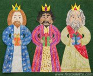 Paper Three Kings Chain craft from firstpalette Bible Crafts For Kids, Man Crafts, Preschool Crafts, Craft Kids, Paper Doll Chain, Paper Dolls, Christmas Bible, Christmas Crafts For Kids, 1st Grade Books