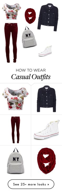 """Casual day"" by beautyjules on Polyvore featuring Converse, Acne Studios, Joshua's, women's clothing, women's fashion, women, female, woman, misses and juniors"